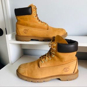 Men's wheat timberland 6 inch boots size 9.5